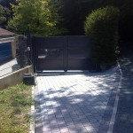 Portail aluminium gris anthracite ouverture 3m00_Montbéliard