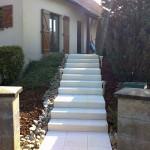 Escalier en blocs marche grenaillé jaune_Dambenois