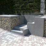 Escalier en blocs marche grenaillé basalthe_Montbéliard