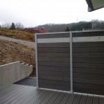 Brise vue composite/aluminium_Clerval