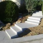 Escalier en blocs marche granit_Dambenois