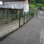 Clôture en panneaux rigides ht 1m20 avec soubassement béton_Bourguigon