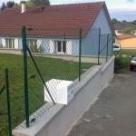 Clôture simple torsion ht 1m20 sur murette_L'isle sur le Doubs