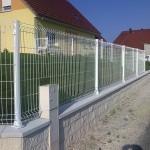 Clôture en panneaux rigides ht 1m20 blanc sur platine_Ecot