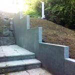 Mur en L grenaillé basalthe_Montbéliard