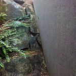 Mur en L sur mesure grenaillé basalthe_Montbéliard