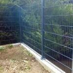 Clôture en panneaux rigides ht 1m60 gris anthracite sur platine_Montbéliard