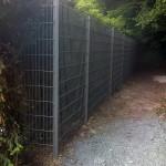 Clôture en panneaux rigides ht 2m00 gris alu_Montbéliard