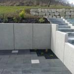 Mur en L 1m50 grenaillé blanc_Clerval