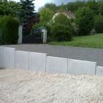 Mur en L béton lisse 1m20_Fesches le Chatel