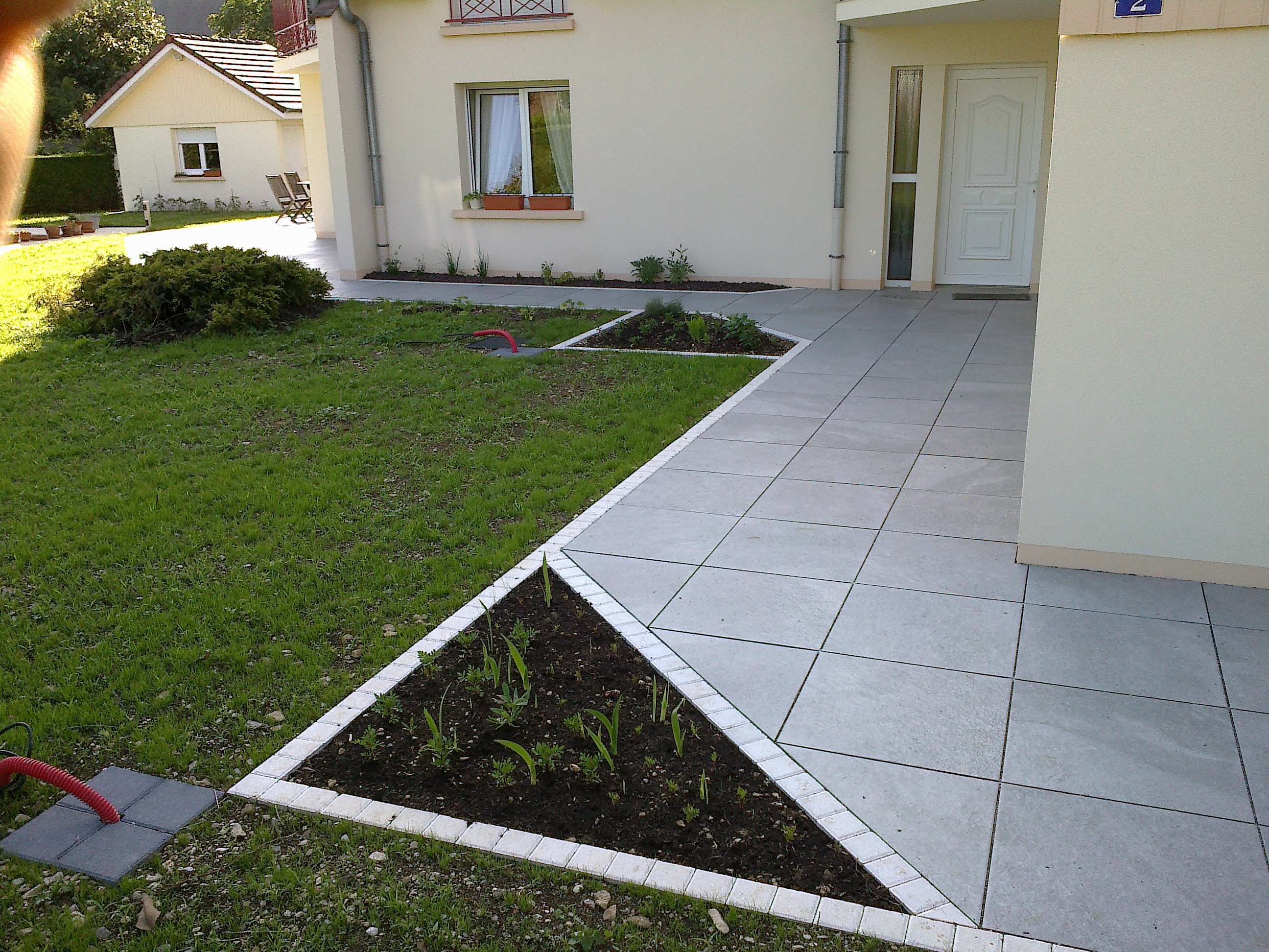 Bordure cassard for Bordure de terrasse en galet