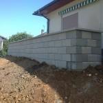 Mur en agglomérés coffrant_Grand Charmont