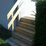 Escalier en mélèze_L'isle sur le Doubs