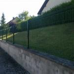 Clôture en panneaux rigides ht 1m20 vert sur platine_L'isle sur le Doubs