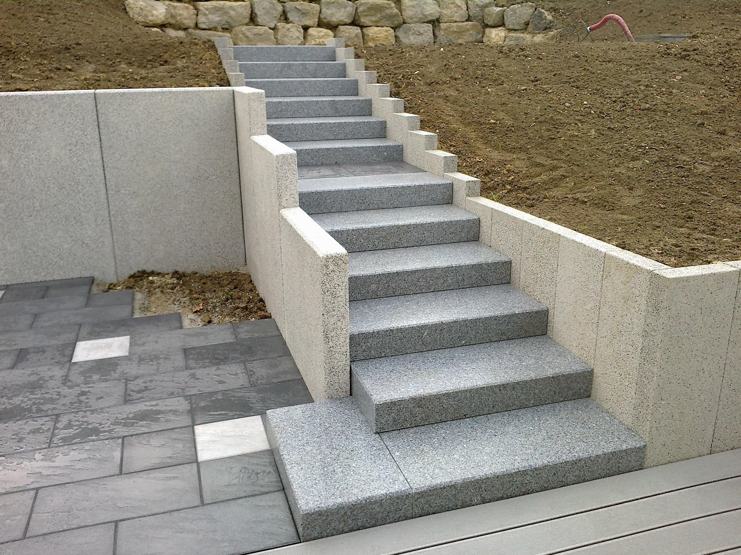 Escalier cassard - Marche en pierre exterieur ...