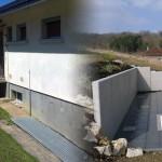 Terrasse suspendue, dalles et bac à fleur_Clerval