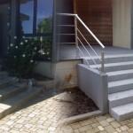 Escalier en bloc marche granit_Mathay