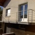 Habillage de balcon en granit et garde corps inox_Pont de Roide